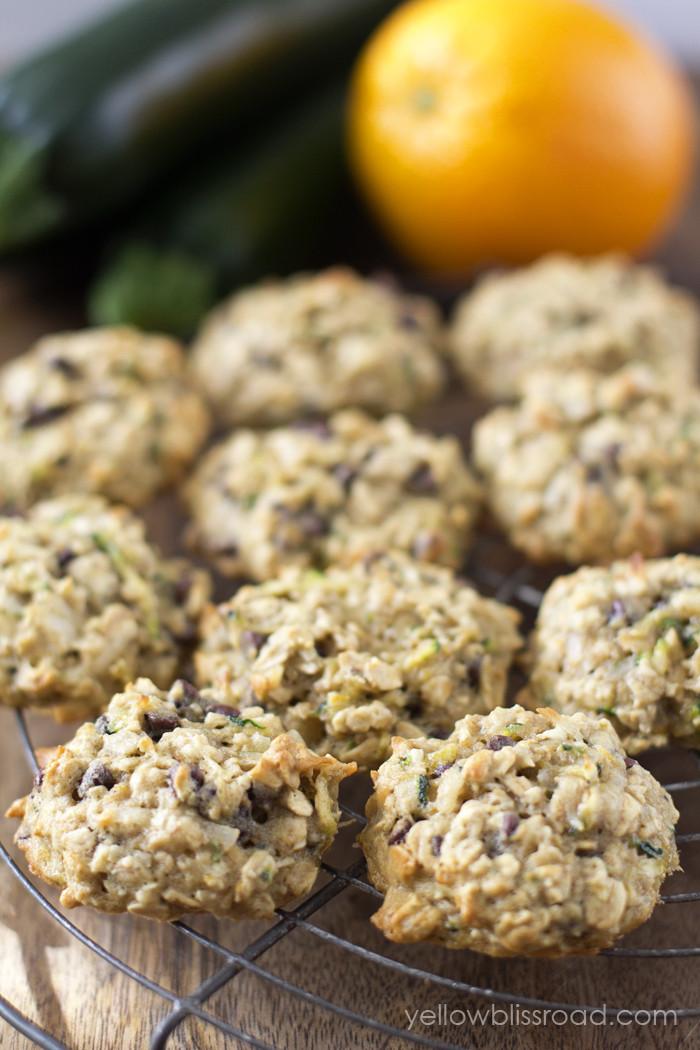 Zucchini Chocolate Chip Cookies  Chocolate Chip Zucchini Oatmeal Cookies Yellow Bliss Road