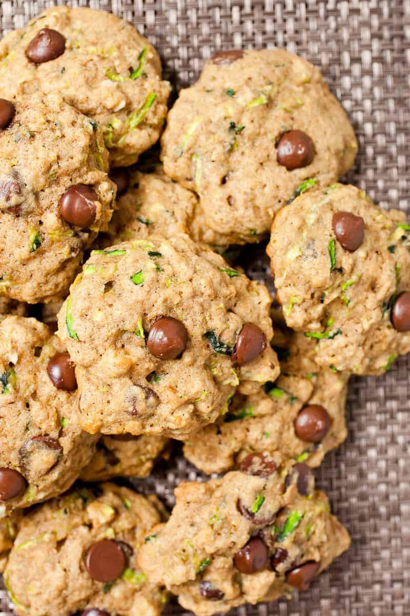 Zucchini Chocolate Chip Cookies  Zucchini Chocolate Chip Cookies Macheesmo