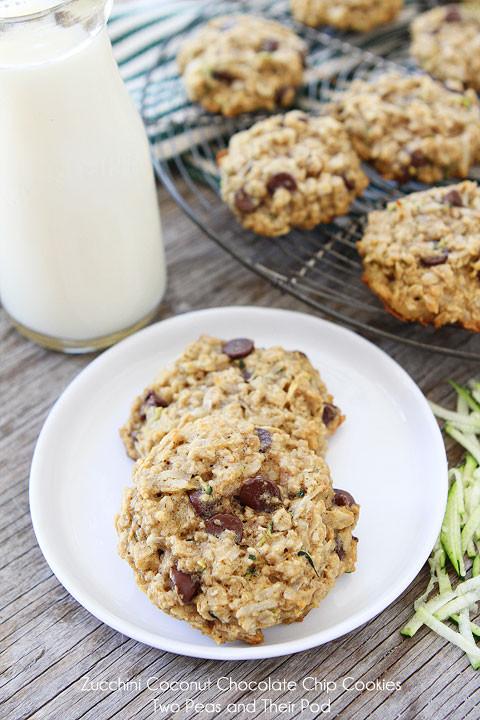 Zucchini Chocolate Chip Cookies  Zucchini Cookies