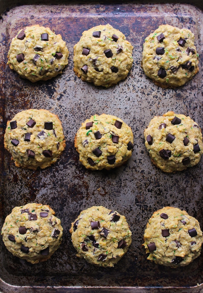 Zucchini Chocolate Chip Cookies  Chocolate Chip Oat Zucchini Cookies Video A Saucy Kitchen