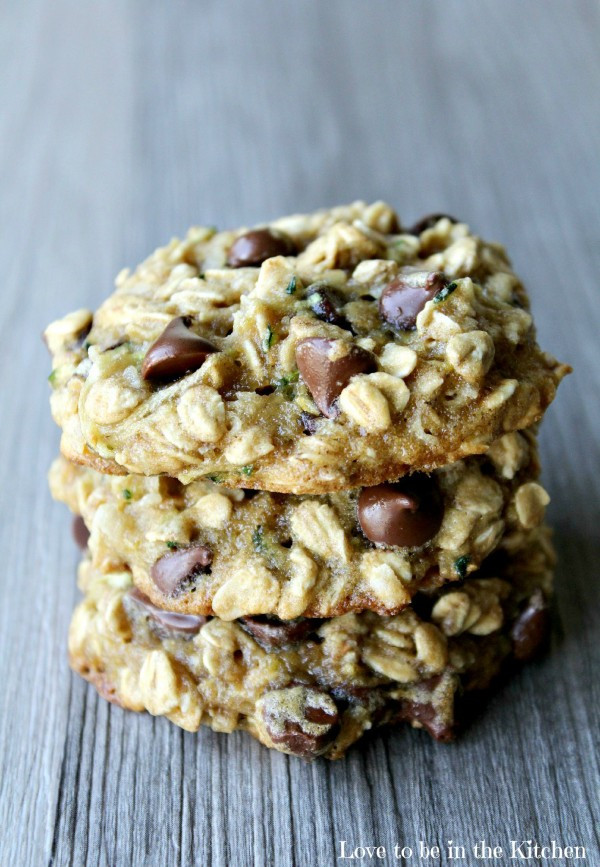 Zucchini Chocolate Chip Cookies  Zucchini Oat Coconut Chocolate Chip Cookies Love to be