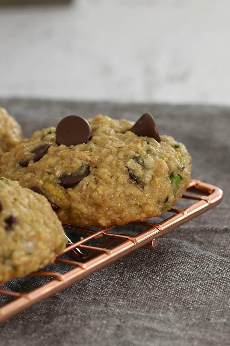 Zucchini Chocolate Chip Cookies  Healthy Zucchini Oat and Chocolate Chip Cookies Bake
