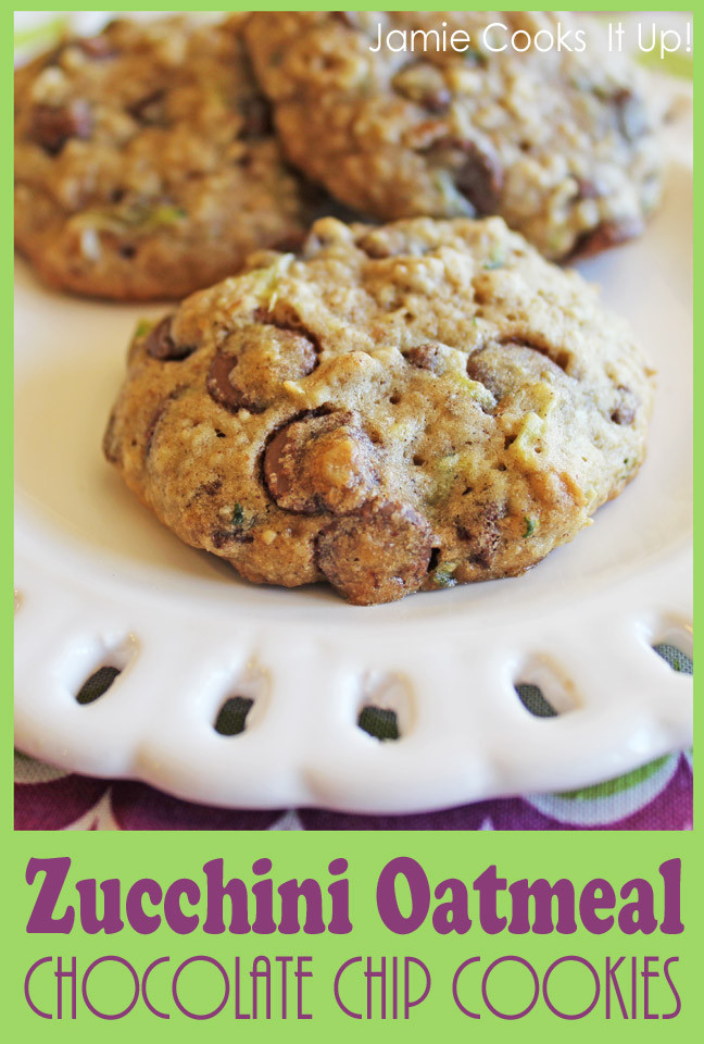 Zucchini Chocolate Chip Cookies  Zucchini Oatmeal Chocolate Chip Cookies