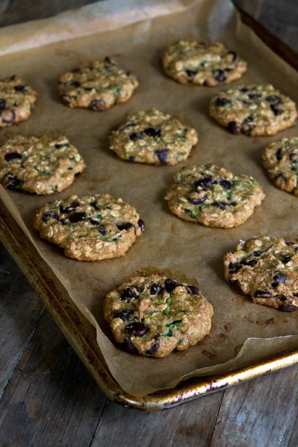 Zucchini Chocolate Chip Cookies  Zucchini Oatmeal Gluten Free Chocolate Chip Cookies