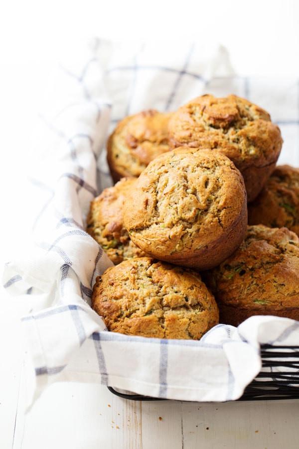 Zucchini Muffins Healthy  Honey and Olive Oil Zucchini Muffins Recipe Pinch of Yum