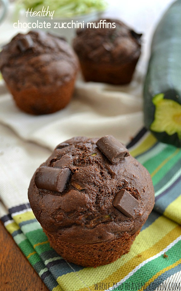 Zucchini Muffins Healthy  Healthy Chocolate Zucchini Muffins