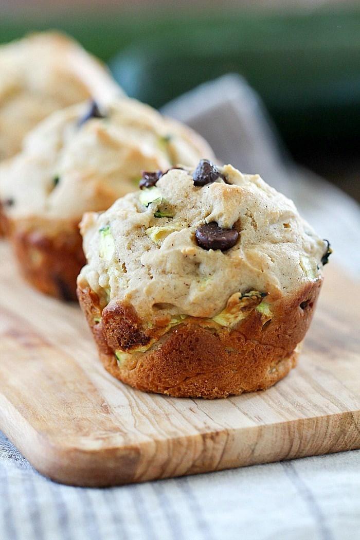Zucchini Muffins Healthy  Healthy Chocolate Chip Zucchini Muffins Yummy Healthy Easy