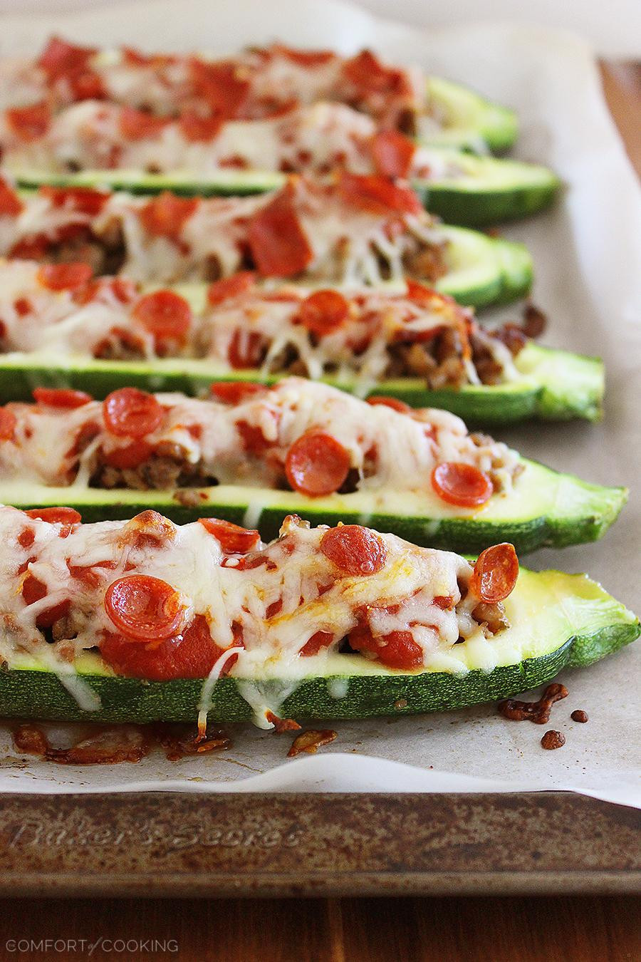Zucchini Pizza Boats  The fort of Cooking Pizza Zucchini Boats