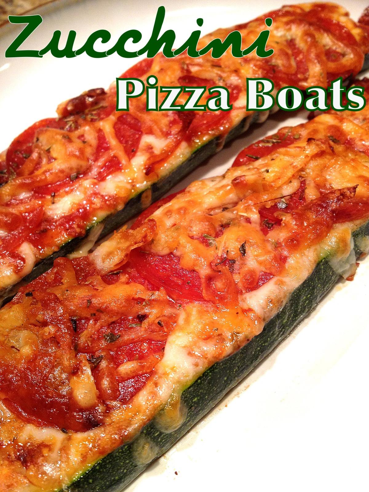 Zucchini Pizza Boats  A Healthy Makeover Zucchini Pizza Boats