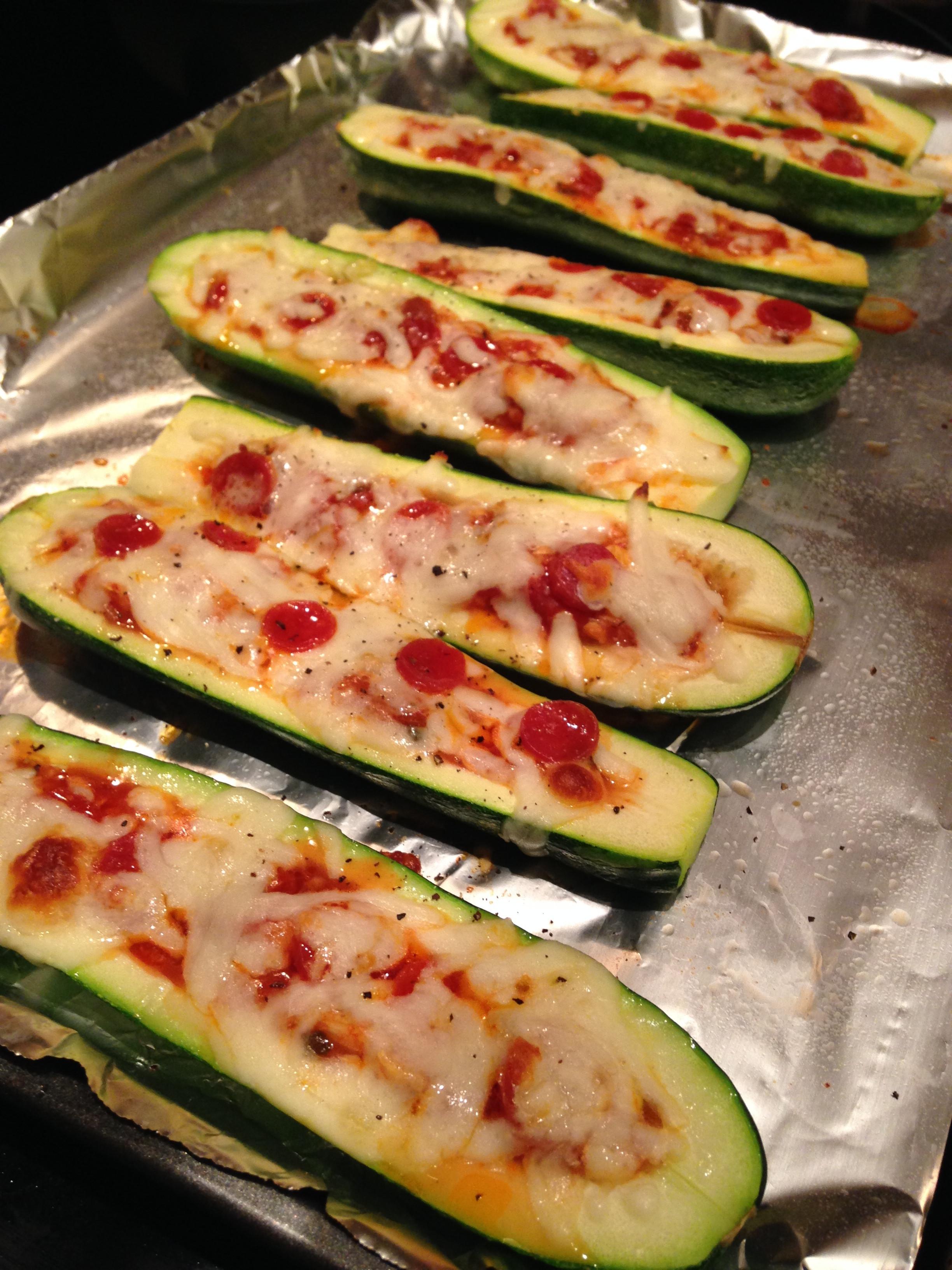 Zucchini Pizza Boats  zucchini pizza boat
