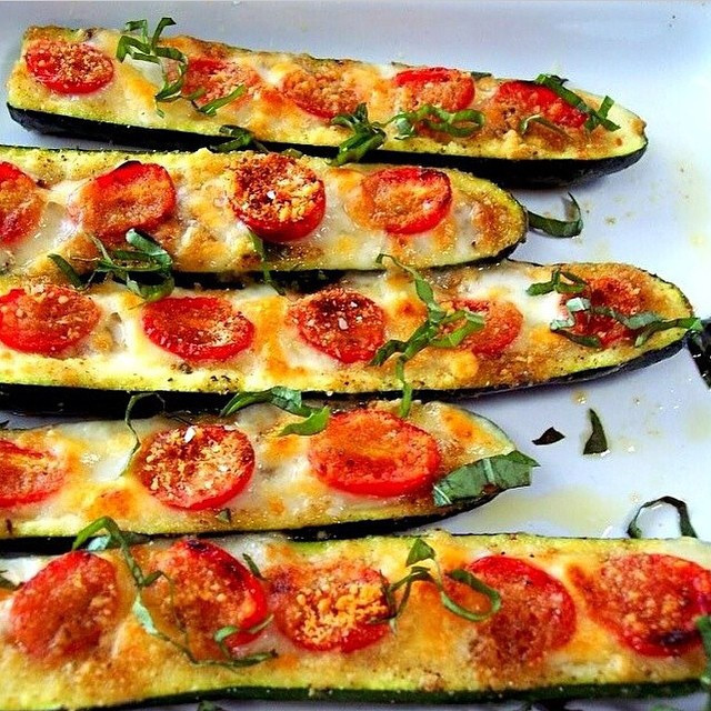 Zucchini Pizza Boats  Zucchini Pizza Boats For more meals and recipes follow