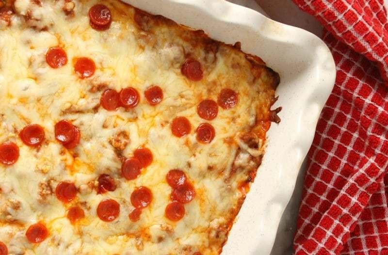 Zucchini Pizza Casserole  Low Carb Zucchini Pizza Casserole