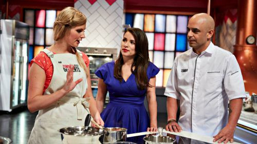 Zumbo Just Desserts Cast  Ali King flying the Canberra flag on 'Zumbo's Just