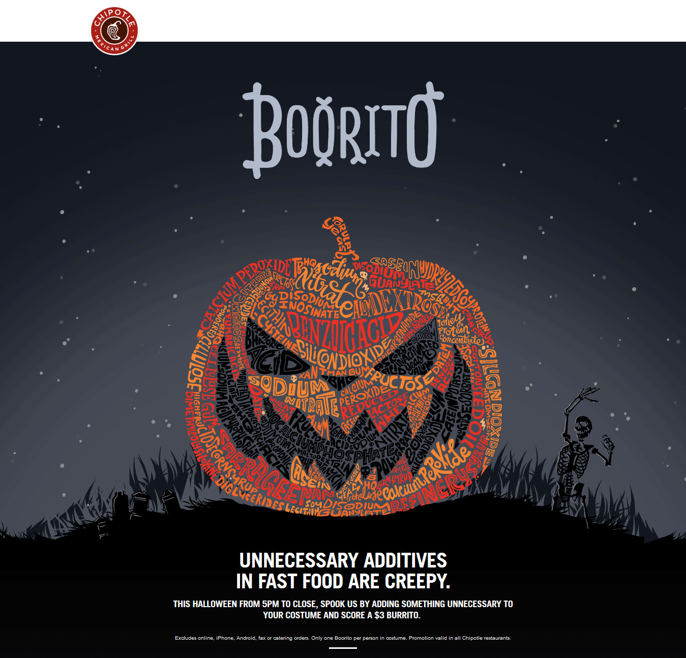 $3 Burritos At Chipotle On Halloween  Chipotle Coupons $3 burritos in costume Halloween at