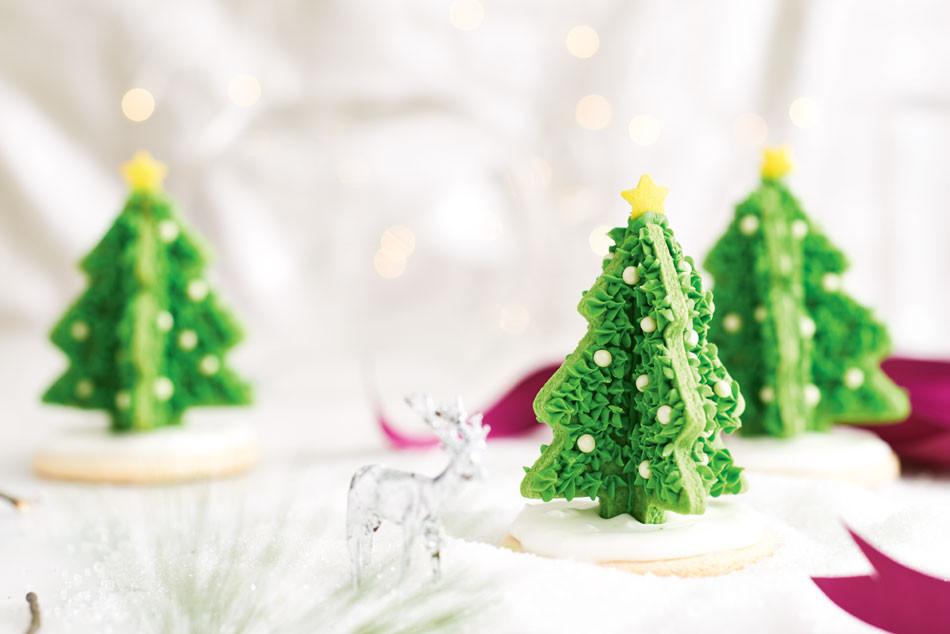 3D Christmas Tree Cookies  3D Christmas Tree Cookies