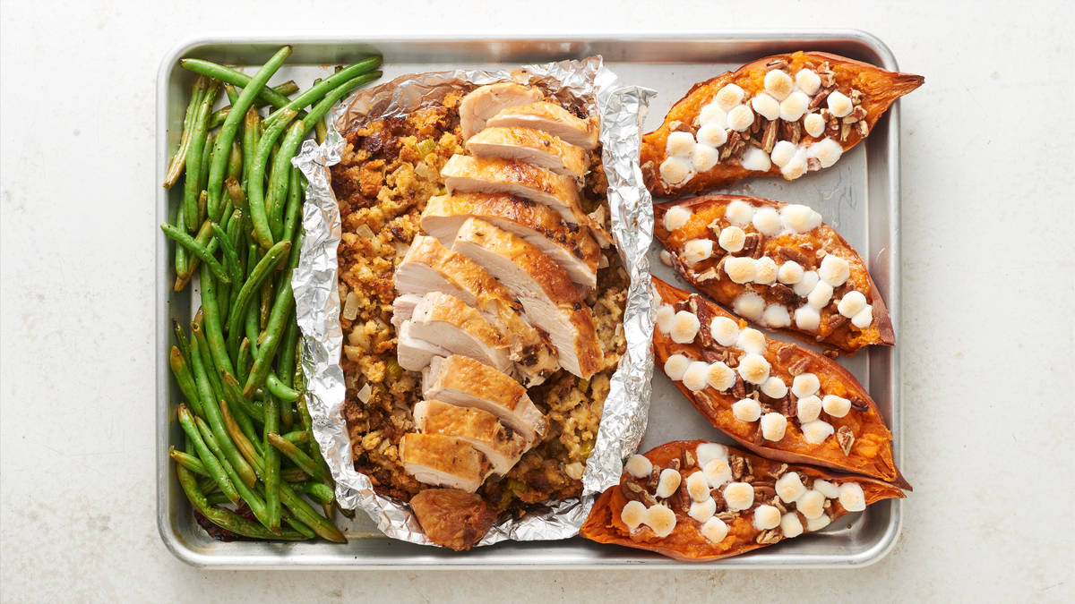 4 Thanksgiving Pies On One Sheet Tray  Sheet Pan Turkey Dinner Recipe LifeMadeDelicious