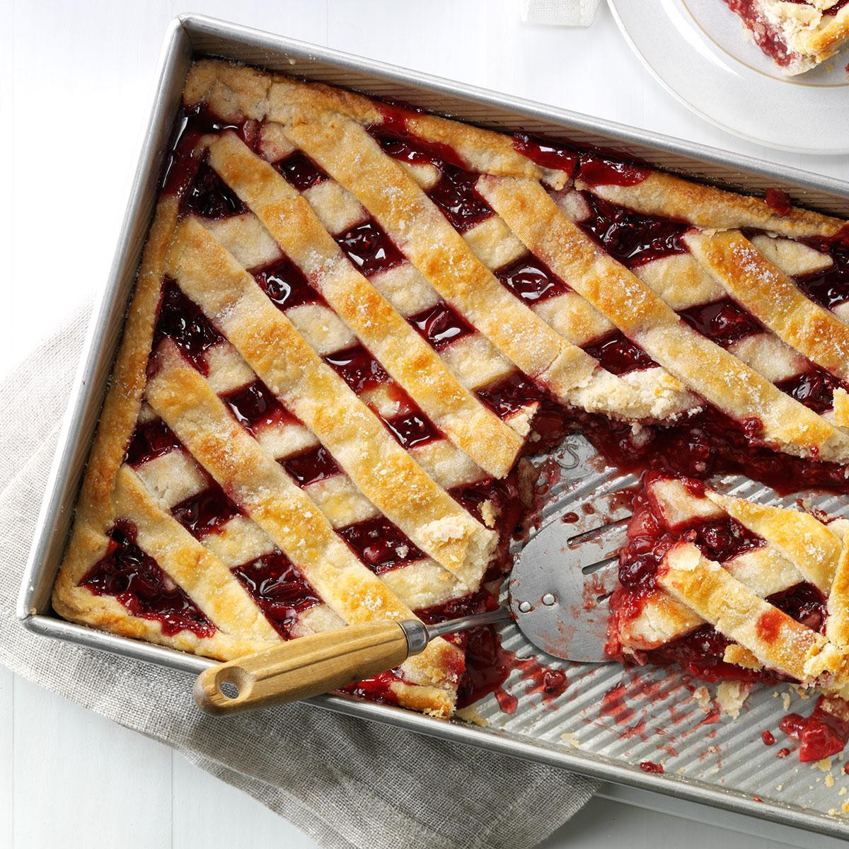 4 Thanksgiving Pies On One Sheet Tray  Apple Cranberry Slab Pie Recipe