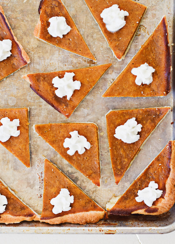 4 Thanksgiving Pies On One Sheet Tray  Rachel Schultz Pumpkin Pie for a Crowd In a Sheet Pan