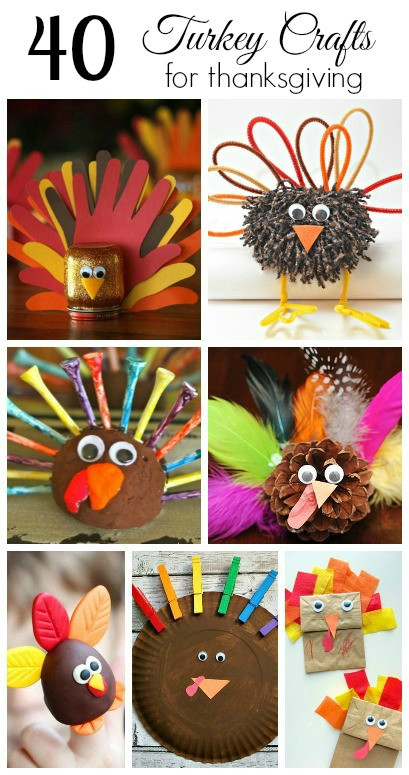 A Turkey For Thanksgiving Activities  40 Turkey Crafts for Thanksgiving