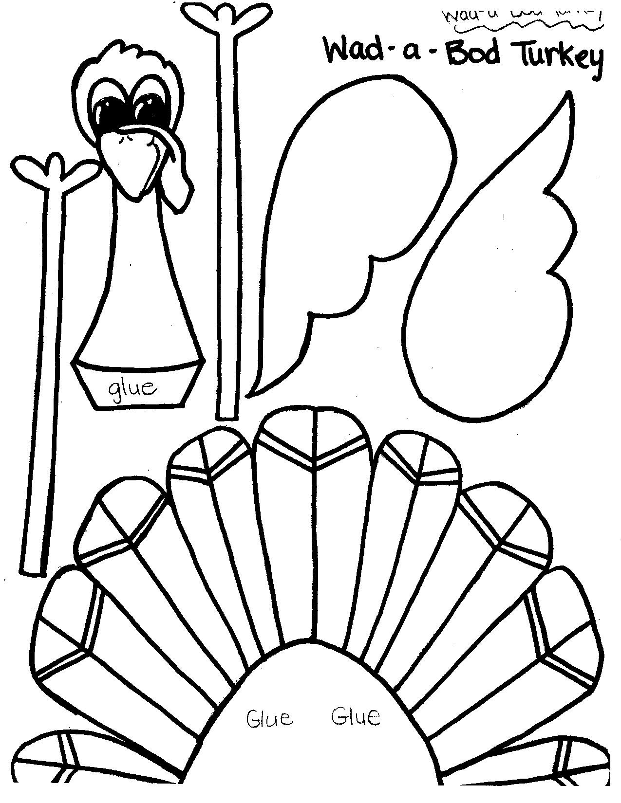 A Turkey For Thanksgiving Activities  Printable Thanksgiving Crafts and Activities for Kids