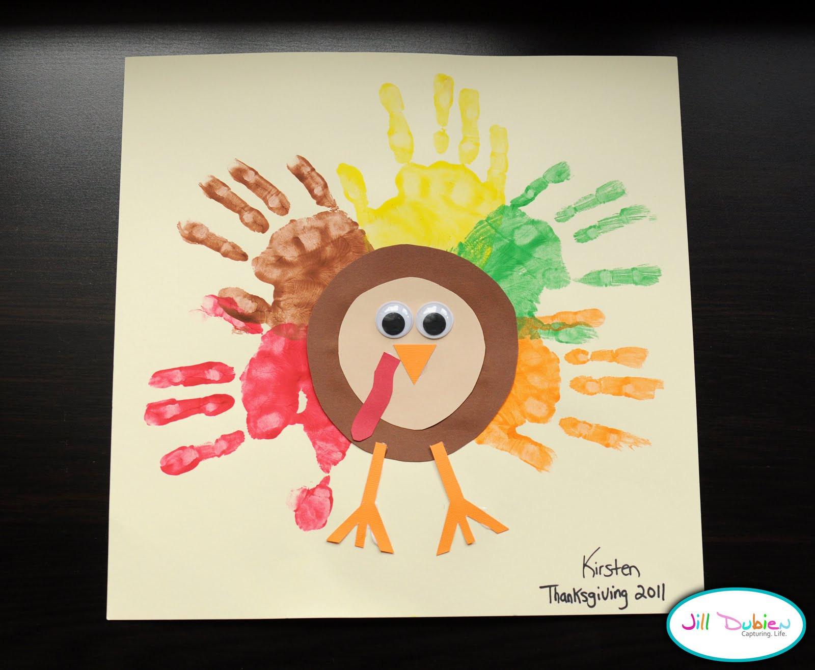 A Turkey For Thanksgiving Activities  Preschool Crafts for Kids Thanksgiving Rainbow Handprint