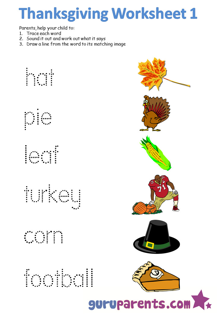 A Turkey For Thanksgiving Activities  Thanksgiving Worksheets