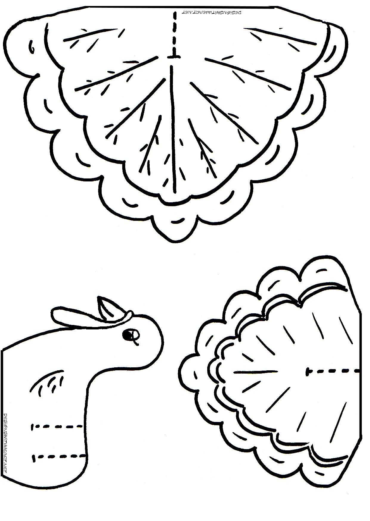 A Turkey For Thanksgiving Activities  turkey coloring cutouts for kids