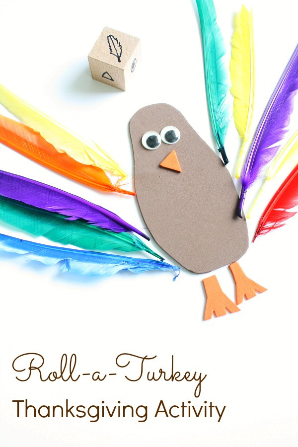 A Turkey For Thanksgiving Activity  Roll a Turkey Thanksgiving Activity Fantastic Fun & Learning