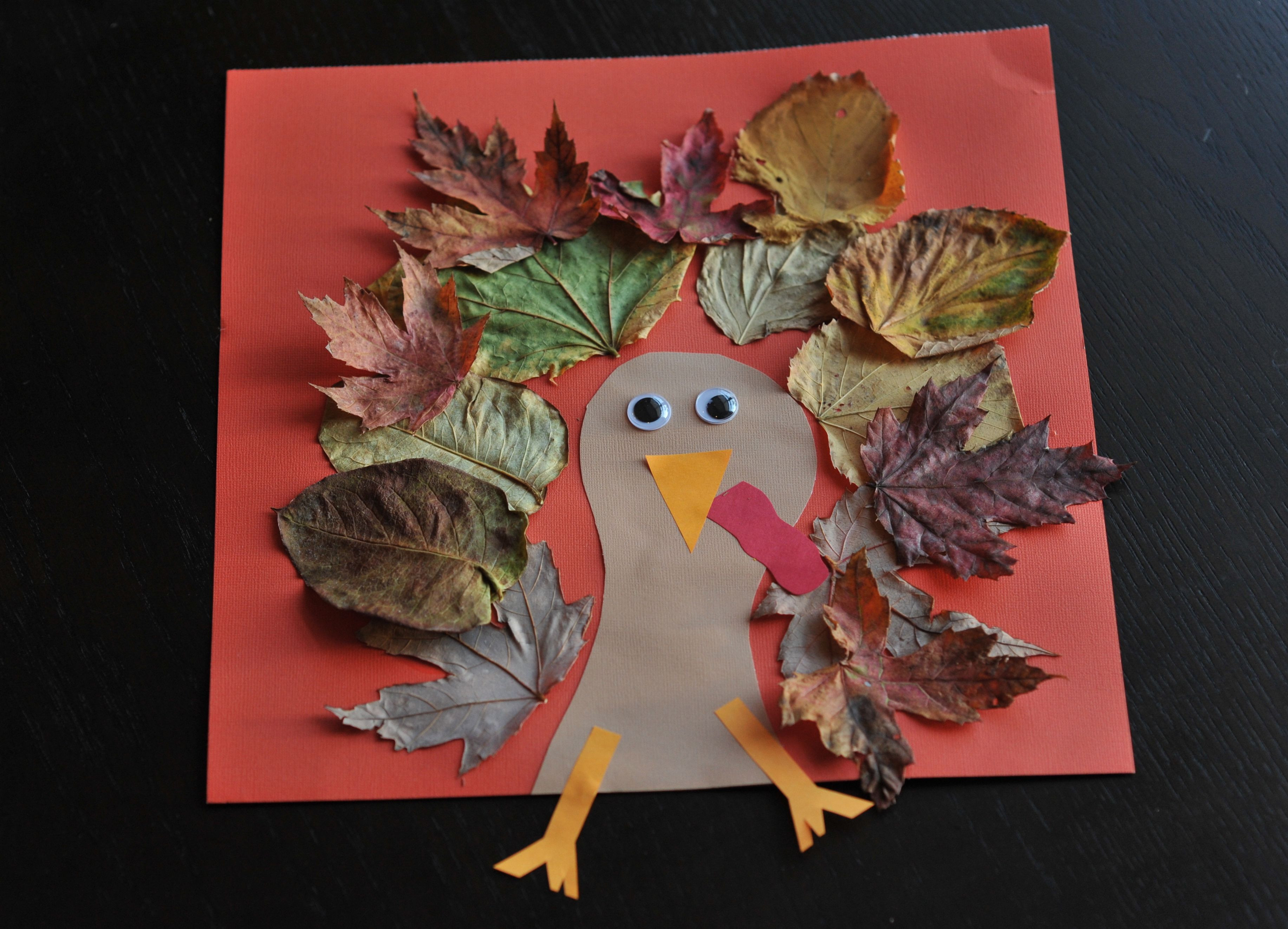 A Turkey For Thanksgiving Activity  Fall Turkey Craft with Leaves