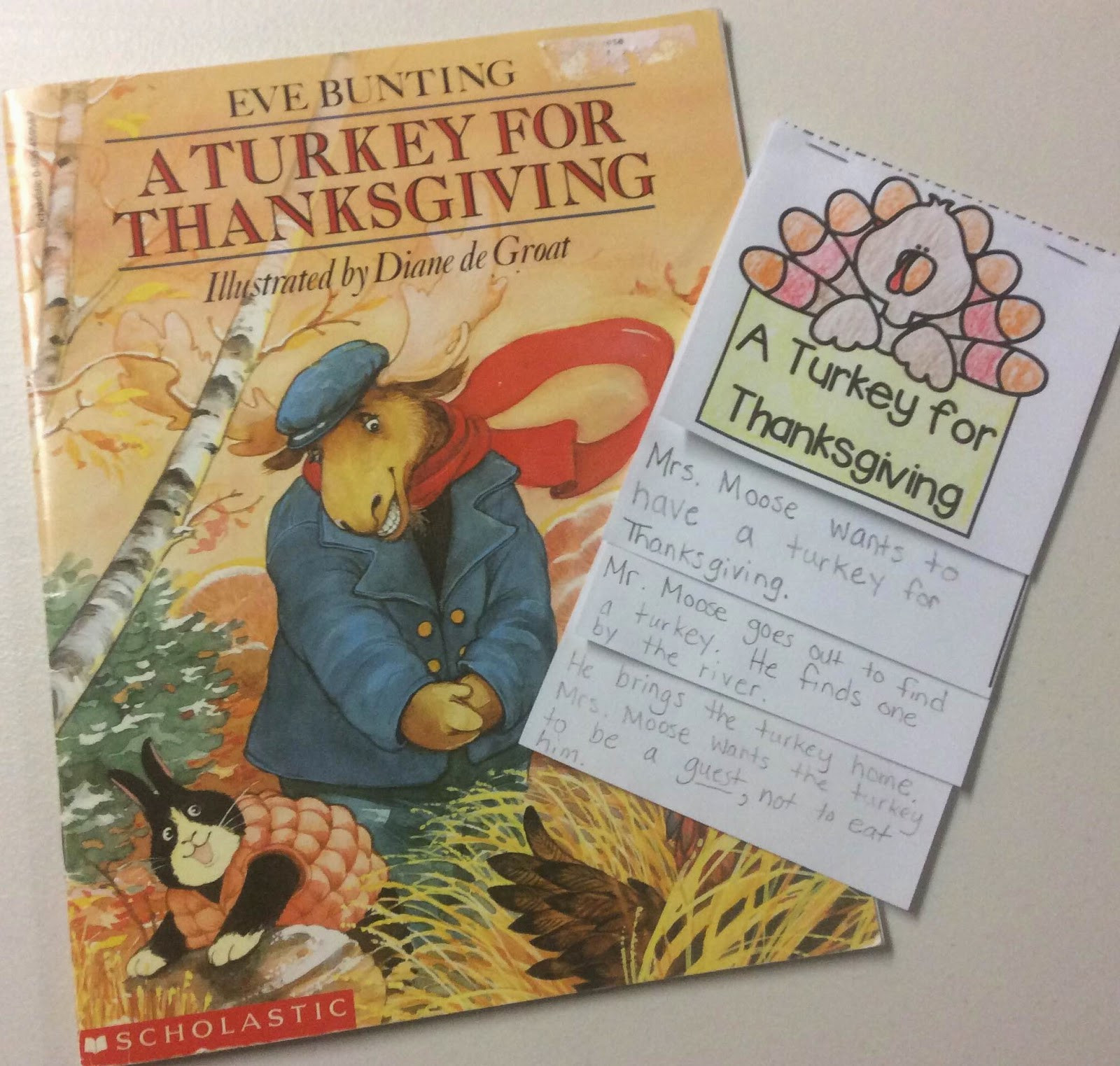 A Turkey For Thanksgiving By Eve Bunting  Thanksgiving Week First Grade Centers and More