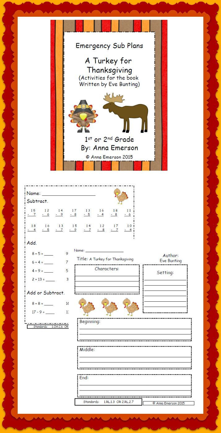 A Turkey For Thanksgiving By Eve Bunting  Best 25 Eve bunting ideas on Pinterest