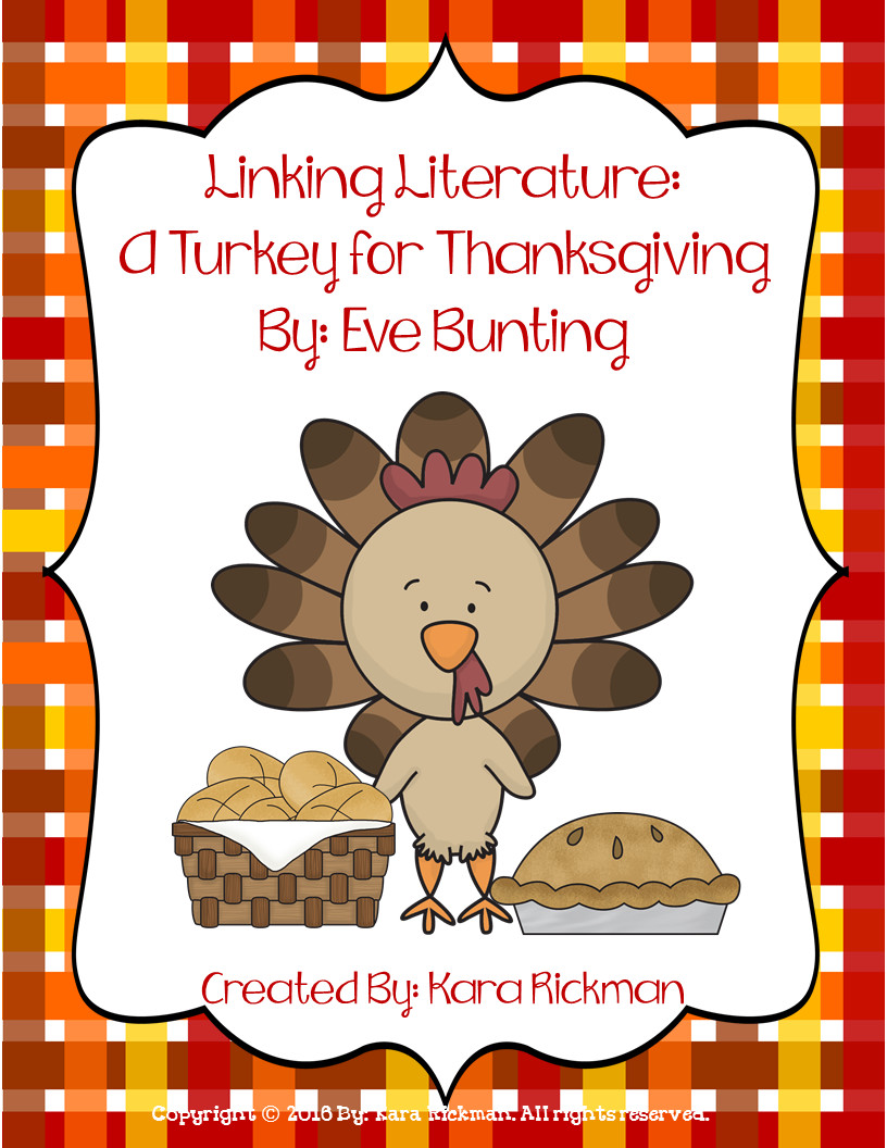 A Turkey For Thanksgiving By Eve Bunting  Create Your Balance With Literacy