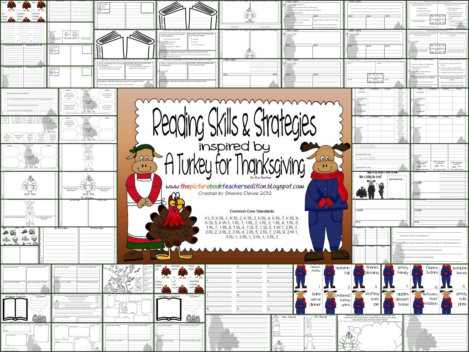 A Turkey For Thanksgiving By Eve Bunting  The Picture Book Teacher s Edition A Turkey For