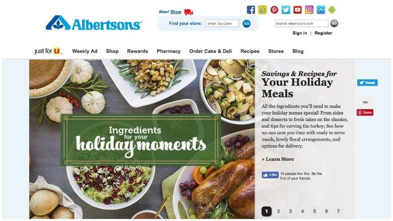 Albertsons Thanksgiving Dinners Prepared  Is Albertsons Open on Thanksgiving 2018 [HOURS]