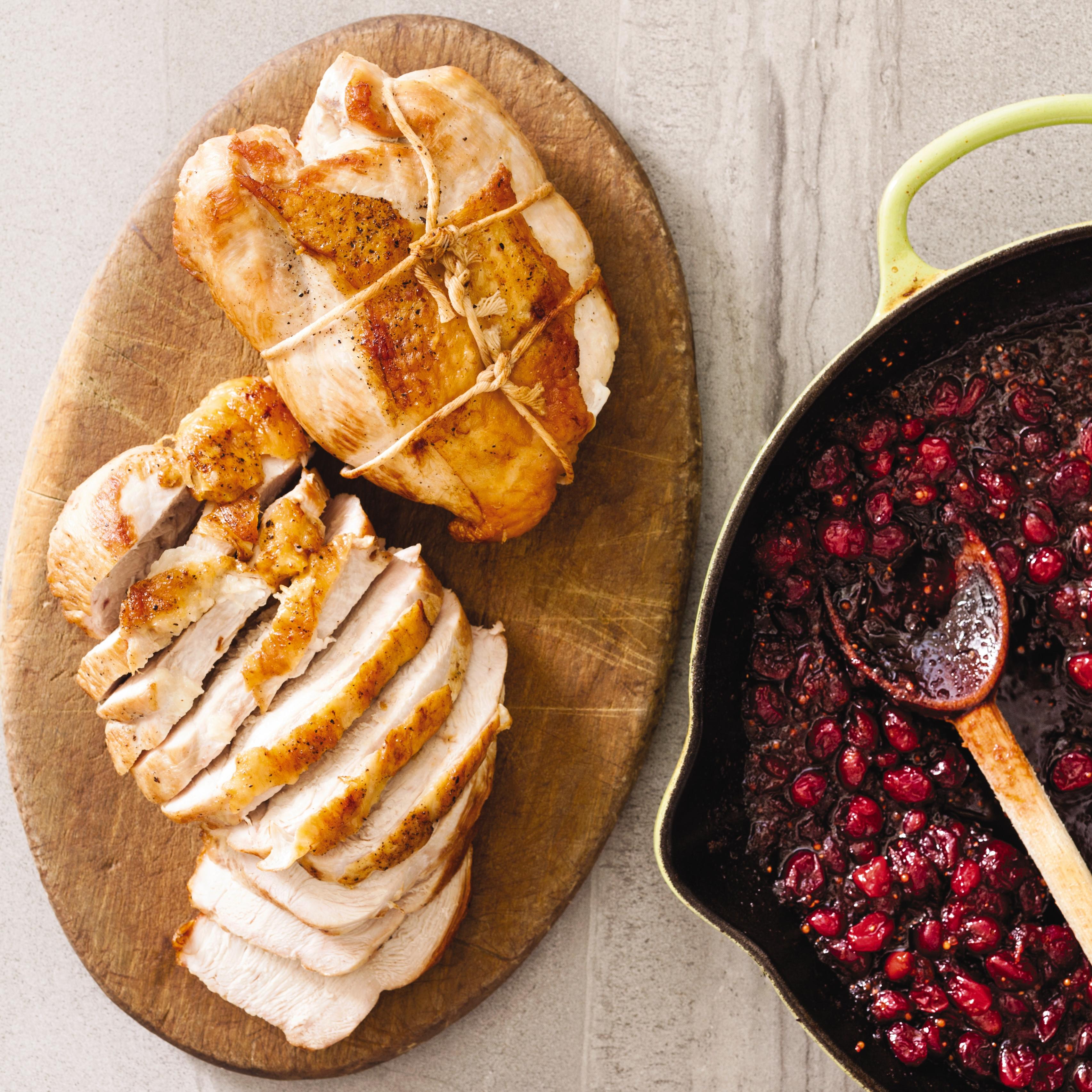 American Test Kitchen Thanksgiving Turkey  Cast Iron Boneless Turkey Breasts with Cranberry Chutney