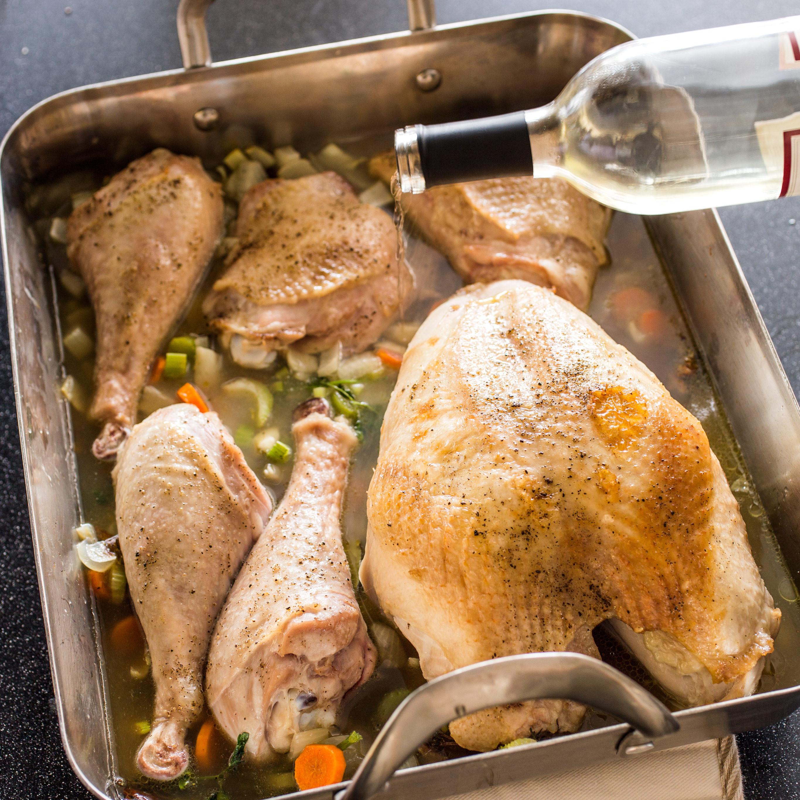American Test Kitchen Thanksgiving Turkey  Braised Turkey with Gravy