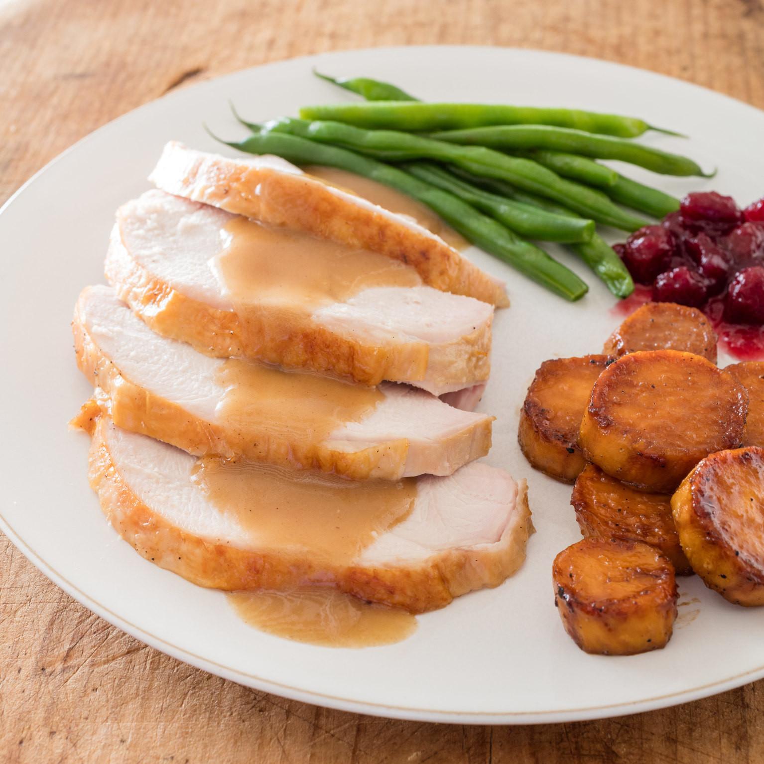 American Test Kitchen Thanksgiving Turkey  Slow Roasted Turkey with Gravy