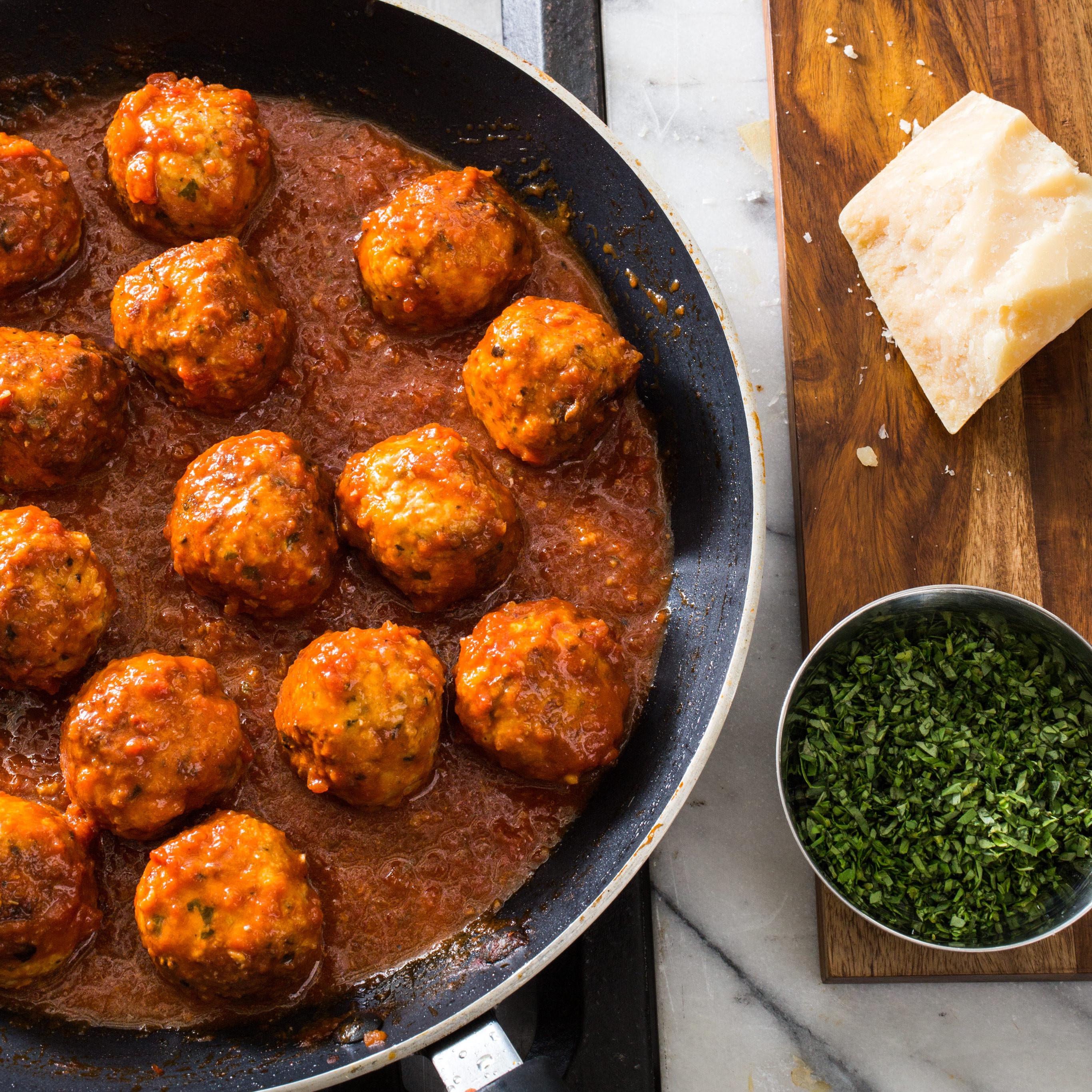 Americas Test Kitchen Thanksgiving Turkey  Italian Style Turkey Meatballs
