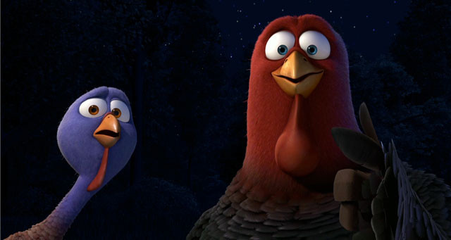 Animated Thanksgiving Turkey Movie  Free Birds Trailer Finally a Weirdly High Concept