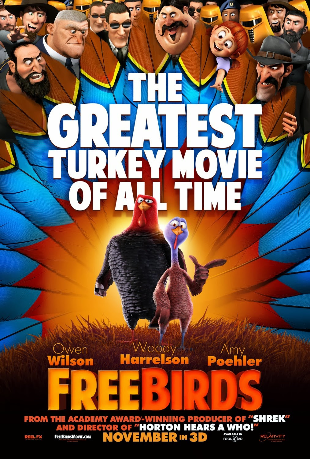 Animated Thanksgiving Turkey Movie  Movie Segments for Warm ups and Follow ups Free Birds