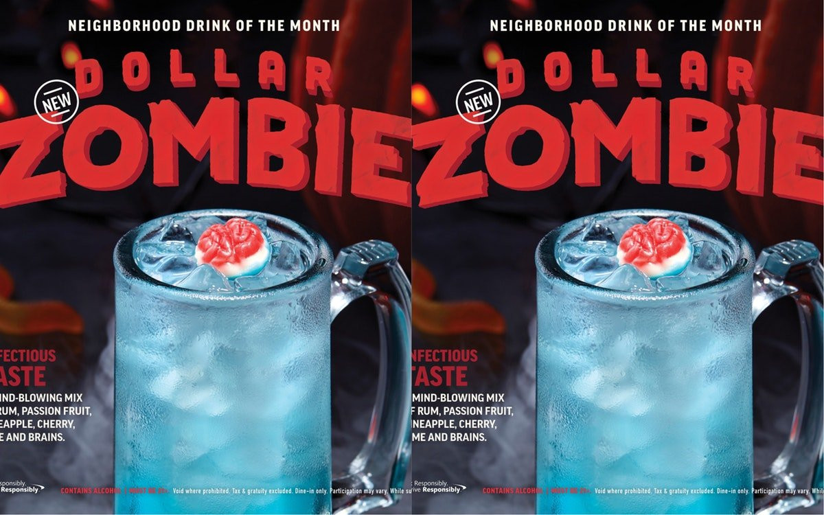 Applebees Halloween Drinks  Applebee s Is Selling A Zombie Drink For $1 — Here s What