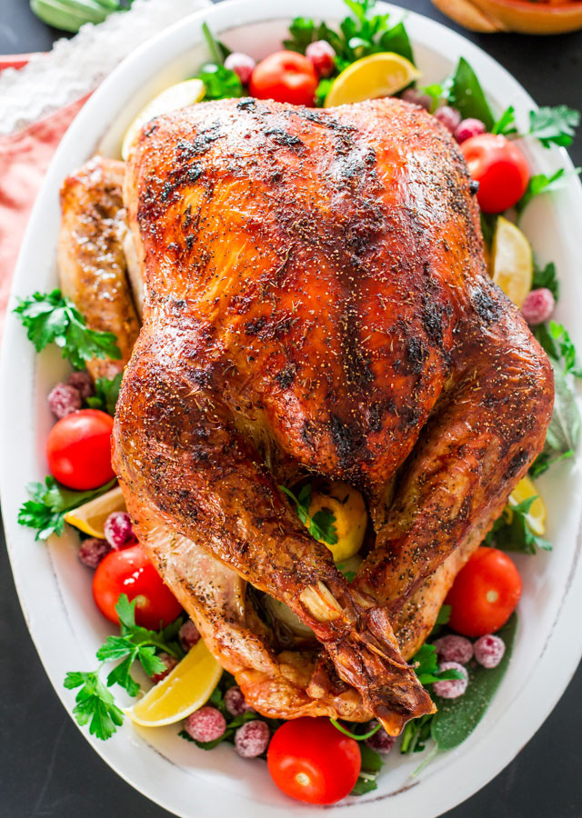 Bake Turkey Recipe For Thanksgiving  How to Roast a Turkey Jo Cooks