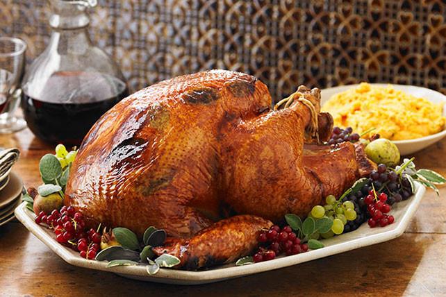 Bake Turkey Recipe For Thanksgiving  Brined Turkey Recipe Kraft Recipes