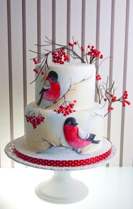 Beautiful Christmas Cakes  1000 images about The Art of Cake decorating on Pinterest