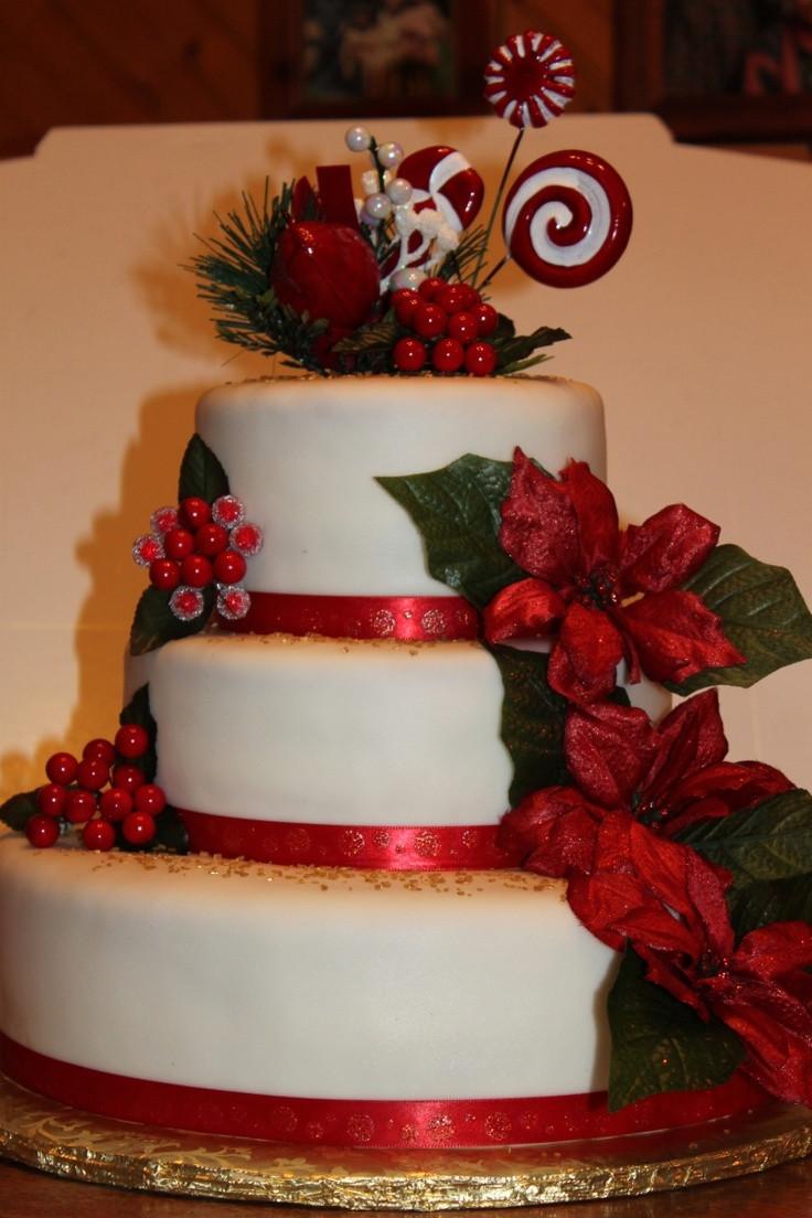 Beautiful Christmas Cakes  wow what a beautiful christmas cake