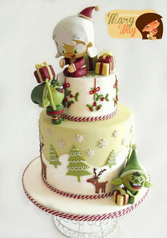 Beautiful Christmas Cakes  Beautiful Christmas cake decoration