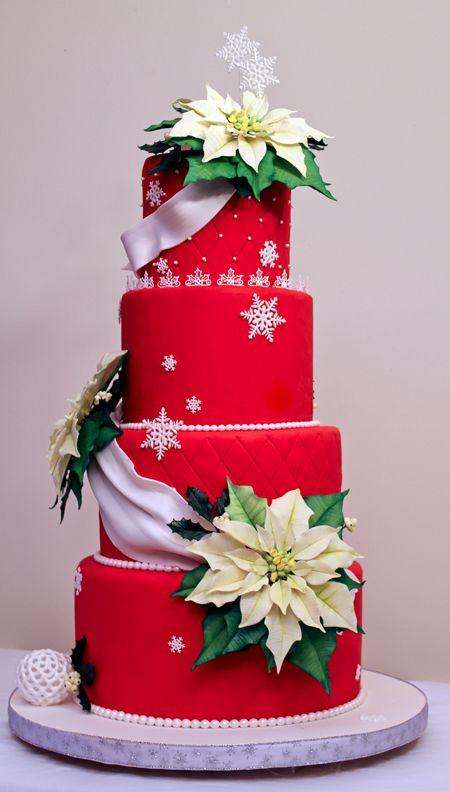 Beautiful Christmas Cakes  Christmas wedding cakes Christmas wedding and Wedding
