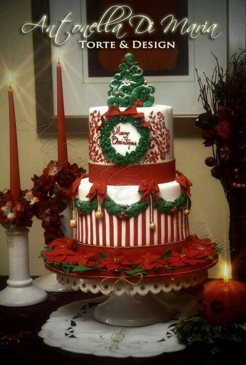 Beautiful Christmas Cakes  Xmas Cakes on Pinterest