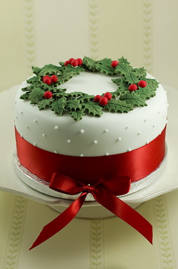 Beautiful Christmas Cakes  Beautiful Christmas Wreath Cake s and