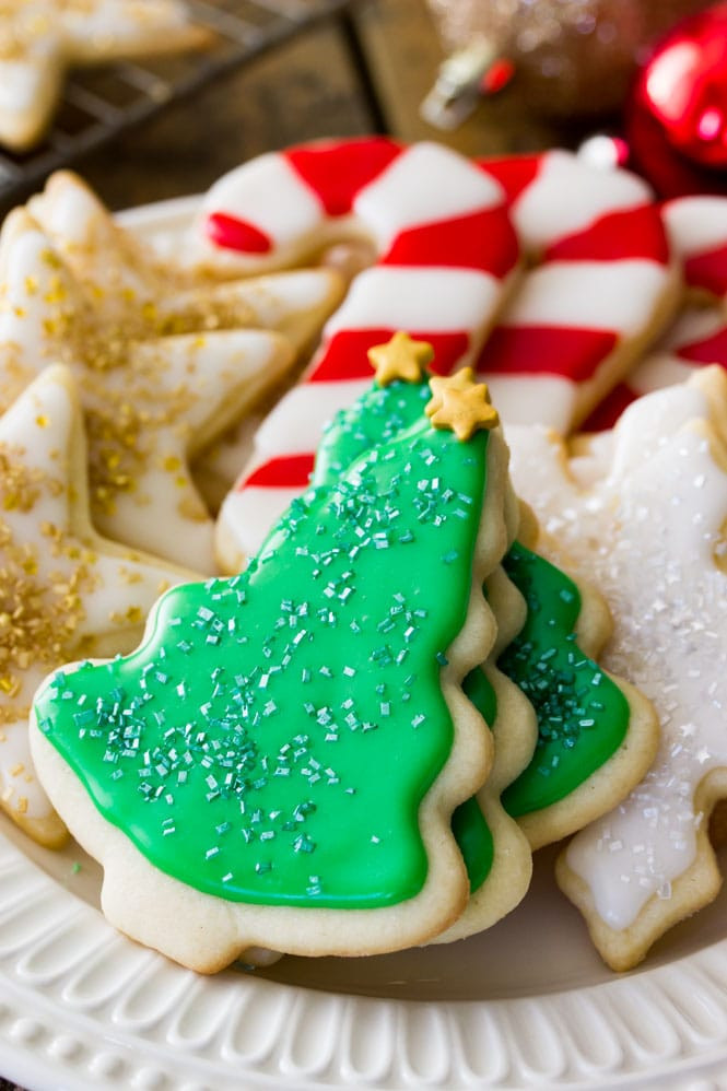 Best Christmas Cookie Icing  Easy Sugar Cookie Recipe With Frosting Sugar Spun Run